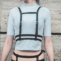 Men Women Unisex GOTHIC Leather Harness, Body Bondage Cage Belt Waist Belt Straps Adjustable Buckle Belt Garter belts