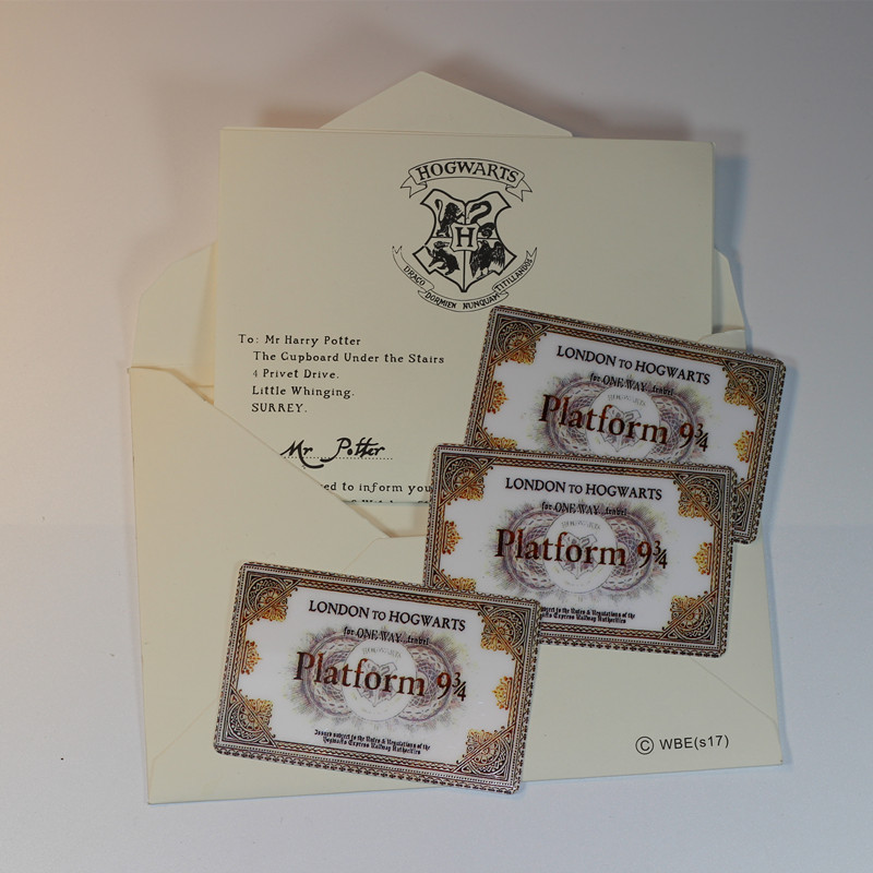 Harry Potter Hogwarts London Express Replica Train Ticket Sticker Platform Ticket