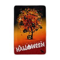 Halloween Pumpkin Tree Blanket Lightweight Soft Warm Blankets Twin Size 60x90 inches for Bed Sofa Couch Office Home Decor