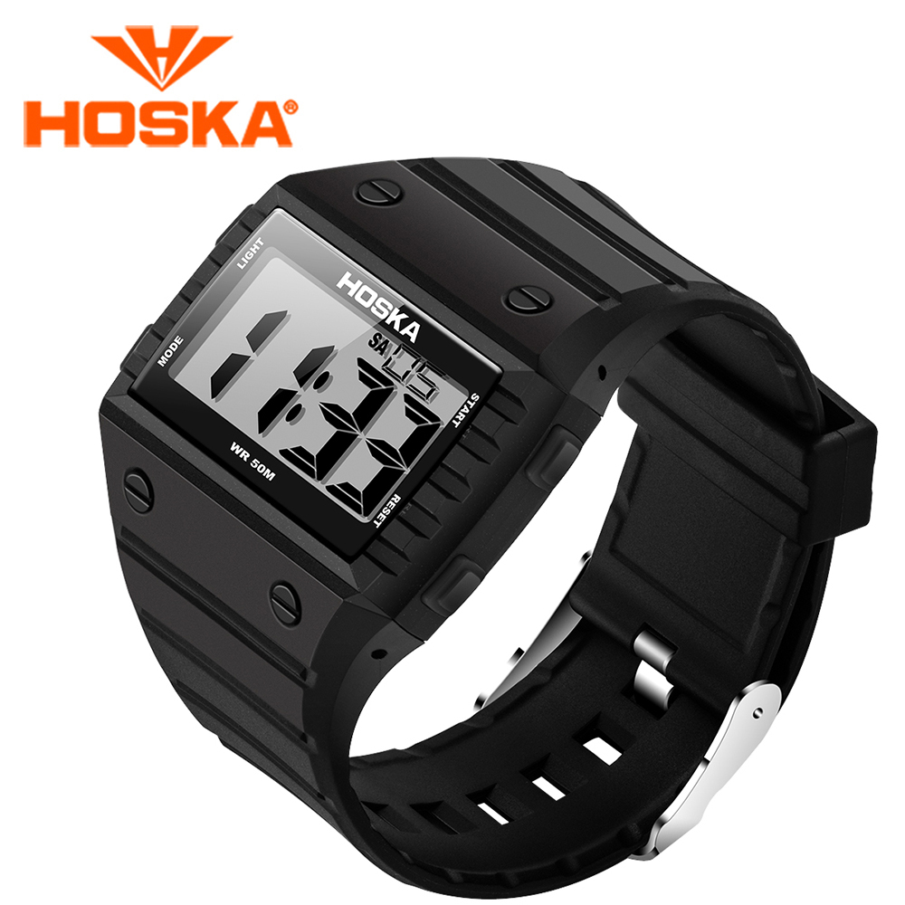 HOSKA student women s watches led digital watch women digital watch Swimming sport outdoor waterproof relogio