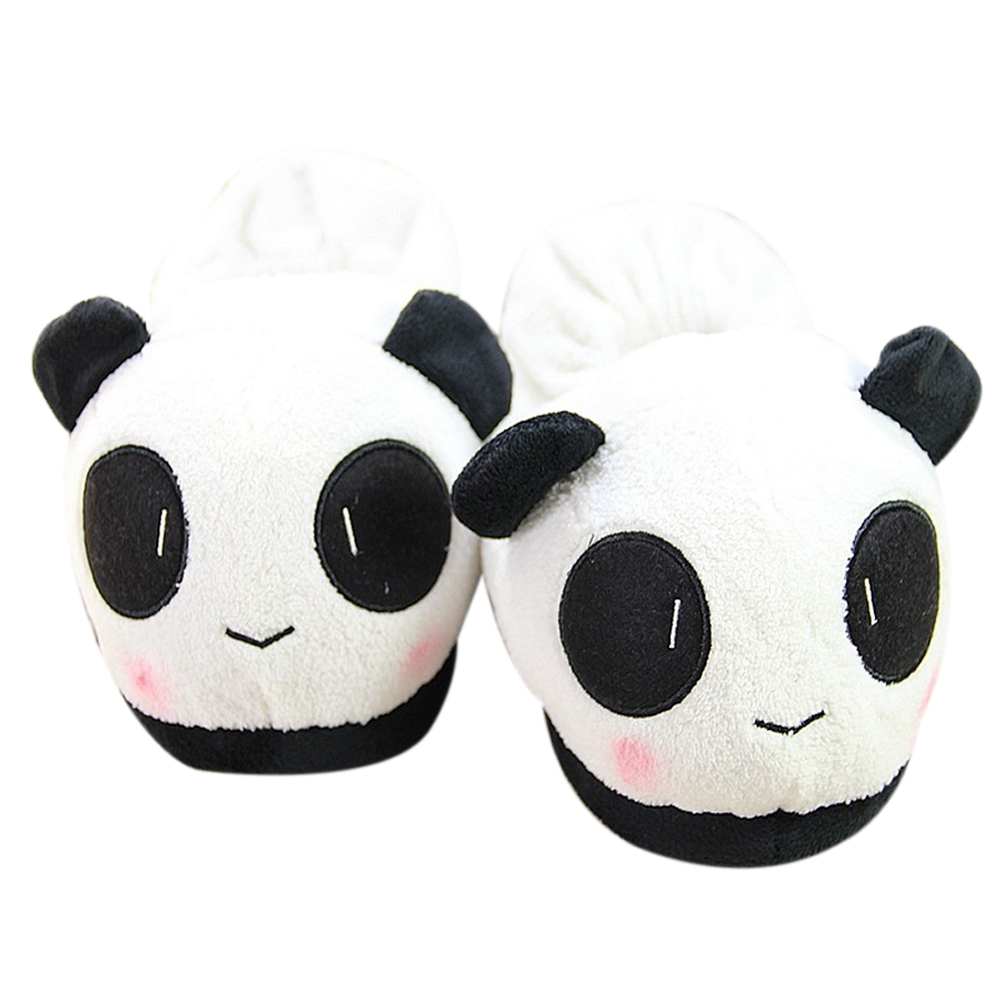 FGGS-Winter Men Soft Cute Panda Winter Warm Plush Antiskid Indoor Home Slippers 28.5cm by 12.5cm winter