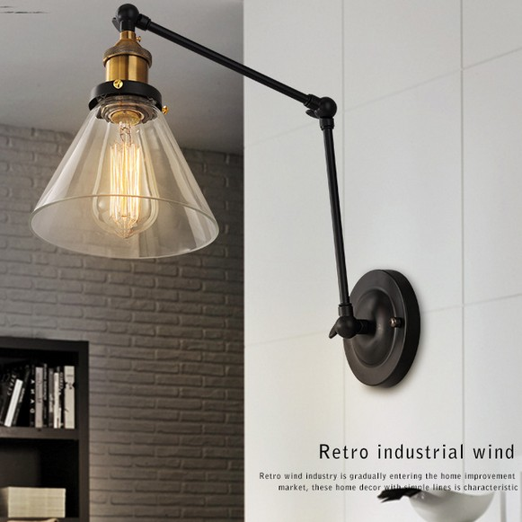 купить Retro Loft Style Edison Wall Sconce Industrial Vintage Wall Lamp Adjustable Wall Light Fixtures For Home Lighting Arandela онлайн
