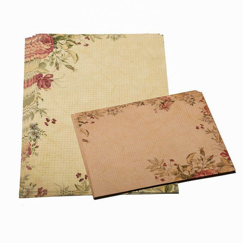 40 Sheet Vintage Stationery Sets with Envelopes for Writing Letters in Letter Pad Paper from Office School Supplies
