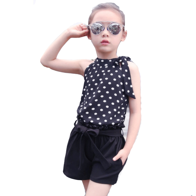 Комплекты одежды для девочек бренд высокого Качественный хлопок детские костюмы жилет и Шорты для женщин 2 шт. Обувь для девочек одежда Модные Детские комплекты 6 8 10 для детей 12 лет комплект