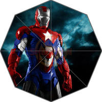 2014 Hot Sale Custom Iron Man Pattern Art Adults Universal Design Fashion Foldable Umbrella Good Gift