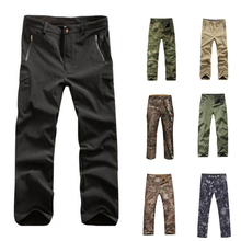 Tactical-Pants Camouflage-Trousers Softshell Hunting Outdoor Hiking Waterproof TAD Men