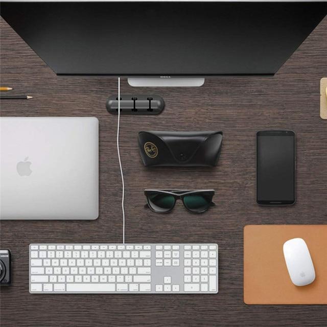Cavo Usb Del Supporto Del Silicone Cavo Winder Gestione Organizzatore Del Cavo Flessibile Pinze Supporto per Il Mouse Tastiera Auricolare Auricolare 6