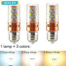 цена на 3 pack in LED Piecewise light changing LED corn lamp 220V Warm White Pure White Cool White 3Colors led SMD E27 Chandelier E14