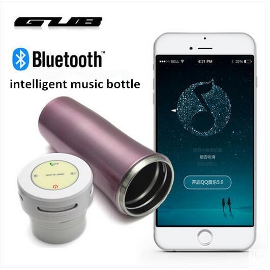 GUB ZN16 2016 date unique conception de bicyclette de vélo intelligent bouteille Musique garder au chaud bouteille en acier inoxydable bouteille avec Bluetooth dans Bicycle Water Bottle de Sports et loisirs
