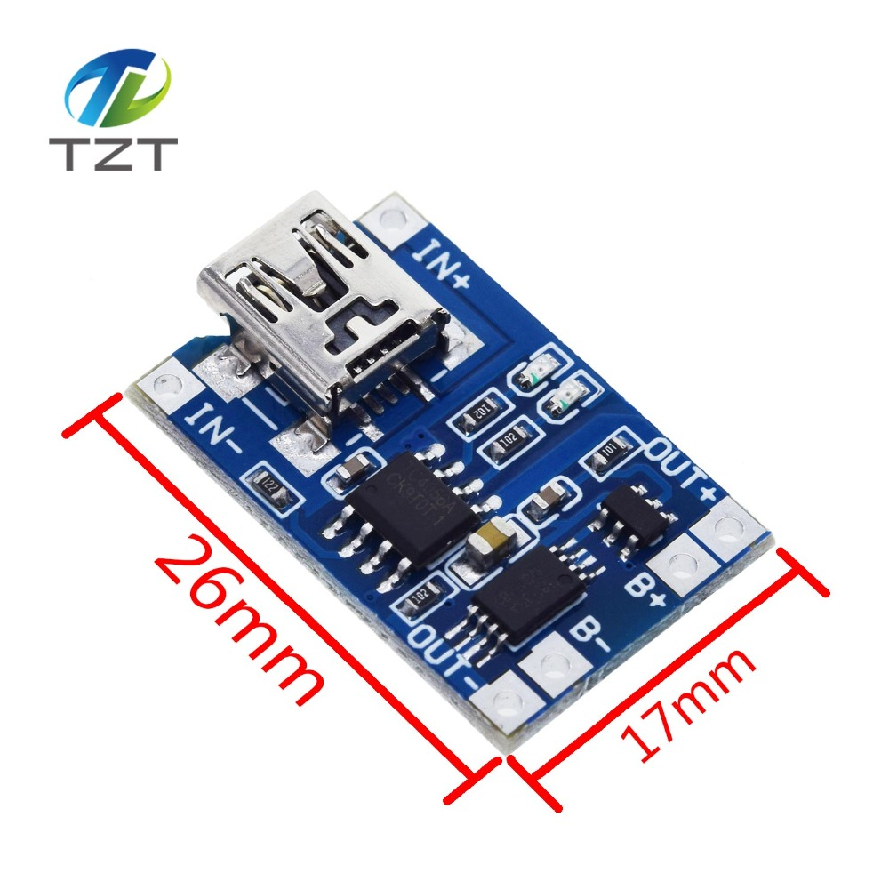 Image 3 - 10Pcs Micro USB 5V 1A 18650 TP4056 Lithium Battery Charger Module Charging Board With Protection Dual Functions 1A Li ion-in Integrated Circuits from Electronic Components & Supplies