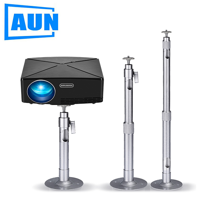 AUN Adjustable Projector Holder Ceiling Mount Max Length For Projector LED Proyector Beamer Mini Projector ZZ03AUN Adjustable Projector Holder Ceiling Mount Max Length For Projector LED Proyector Beamer Mini Projector ZZ03
