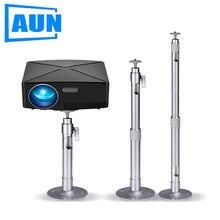 AUN Soporte para Proyector, ajustable, para montaje en techo, de longitud máxima, para Proyector LED, Mini Proyector ZZ03