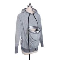 Women Sweatshirts Baby Carrier Wearing Hoodies Combine Three By One More Function Kangaroo Mom Loose Coat Suit dress
