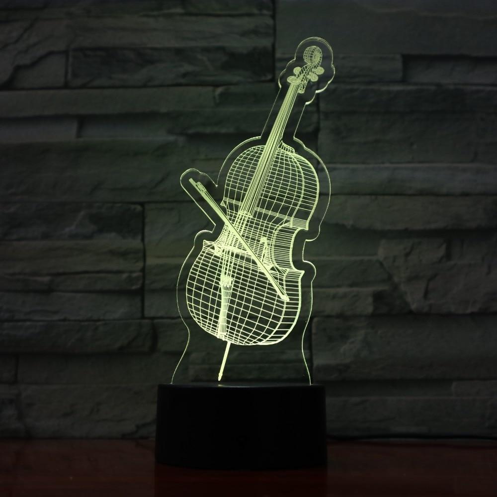 Lights & Lighting Led Lamps Violin 3d Led Usb Lights Colorful Decorative Lamp Holiday Children Lamp As Bedroom Decoration Fast Color