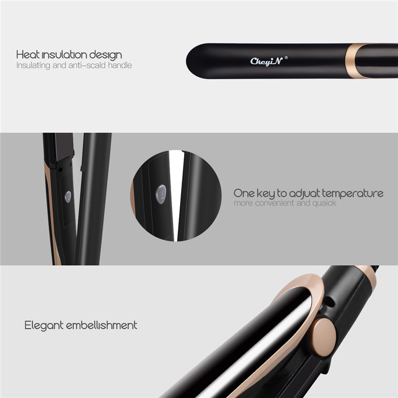 Professional Hair Straightener + Curler / Flat Iron with LED Display. 15