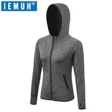 IEMUH Brand Hiking Running Jackets Autumn Winter Thermal Fleece Jacket Outdoor Windproof Camping Hunting for Women