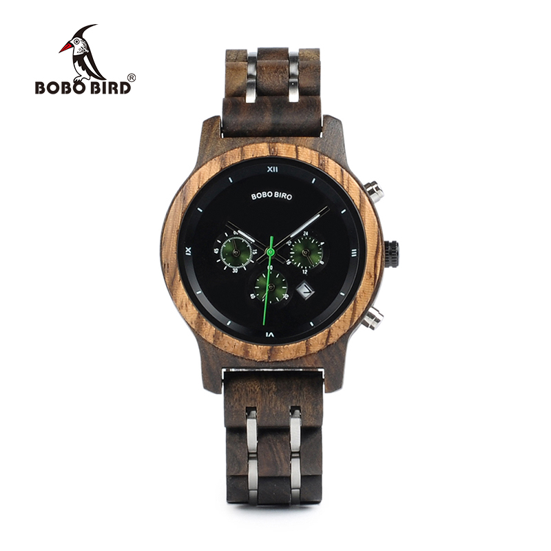 BOBO BIRD Relogio Feminino dropshipping Ladies Watches Wood Metal Chronograph Wristwatch Customize Logo Gift Box U-P18