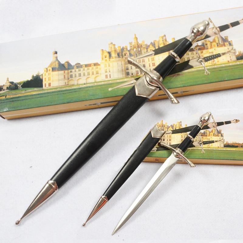 Le seigneur des anneaux dague auto-défense épée en acier inoxydable court épée Cosplay Prop élégant dague Leggings épée artisanat