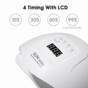 Image 4 - Capteur UV lampe à LED SUN X5 Plus 80W à la lumière solaire, sèche vernis à ongles, écran LCD avec minuterie, outil de séchage 10/30/60/99s