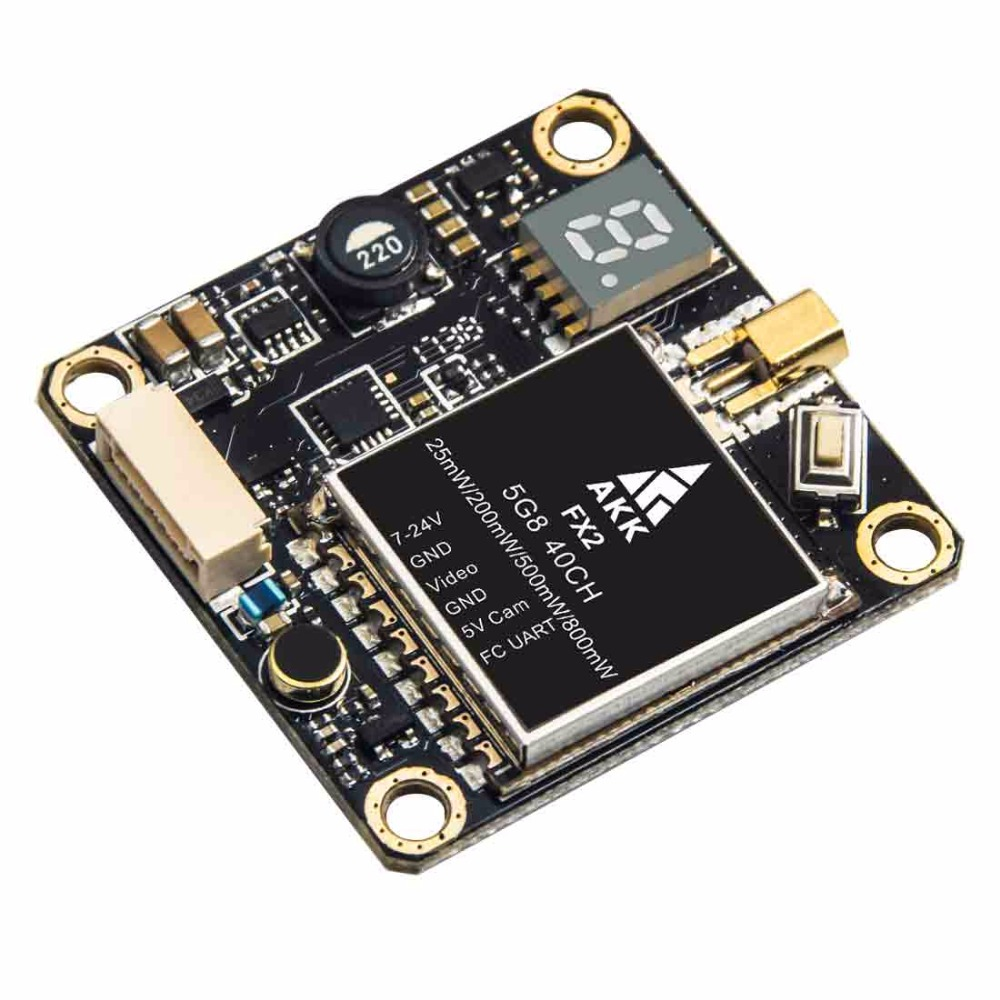 Image 3 - AKK FX2 5.8GHz 0.01/25/200/500/800mW 40CH Switchable FPV Transmitter with UART Support OSD Configuring via Betaflight Fligh-in Parts & Accessories from Toys & Hobbies