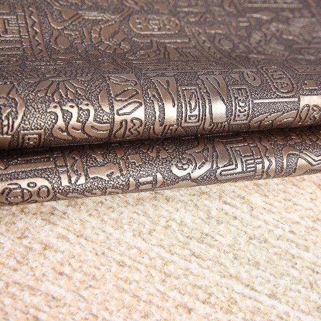 Tecidos de Couro PVC Couro Sintético Material de DIY Handmade Egito padrão Soft Case Couro Curtido Fundo Fotográfico Adereços