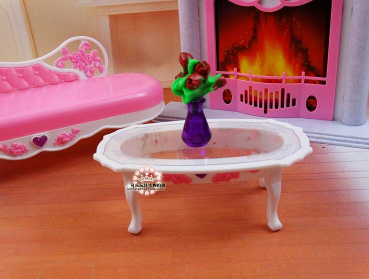 Livraison gratuite fille en plastique anniversaire Play Set meubles - Poupées et accessoires - Photo 6