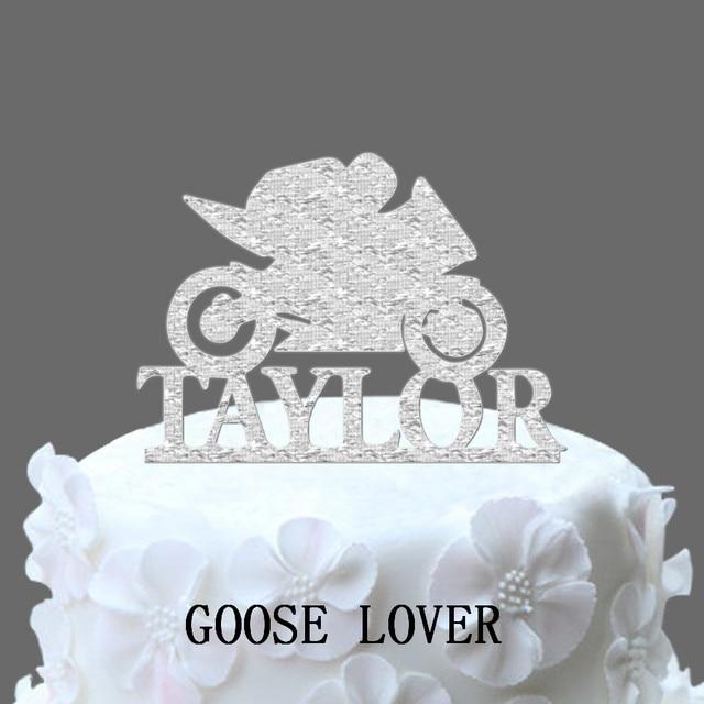 motorbike cake topper personalized last name wedding cake topper