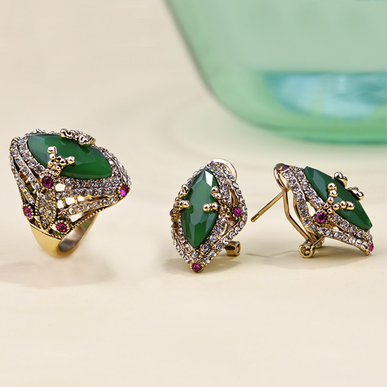 Bijoux Vintage Online : Aliexpress buy emerald indian jewelry sets luxury