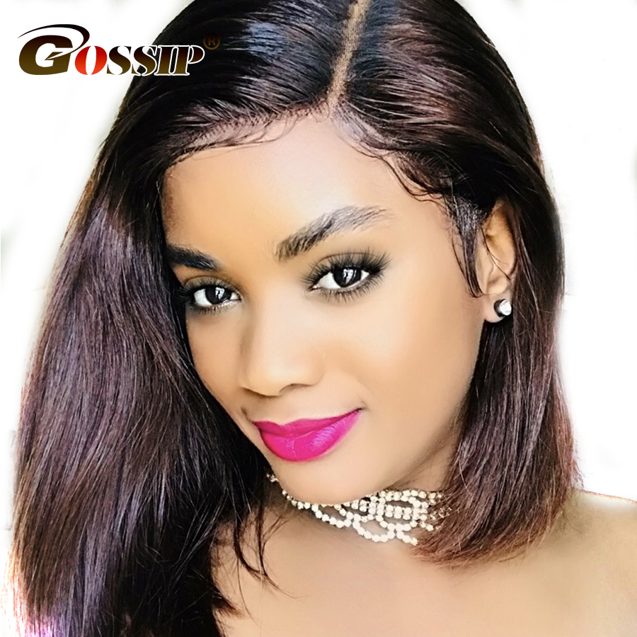 Gossip Hair Wig 150% Density Bob Wig 6 Inch Part Lace Indian Straight Hair Lace Front Wig Short Human Hair Wigs For Black Women