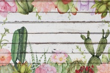 Laeacco Old Wooden Boards Cactus Flowers Pattern Baby Photography Backgrounds Customized Photographic Backdrops For Photo Studio