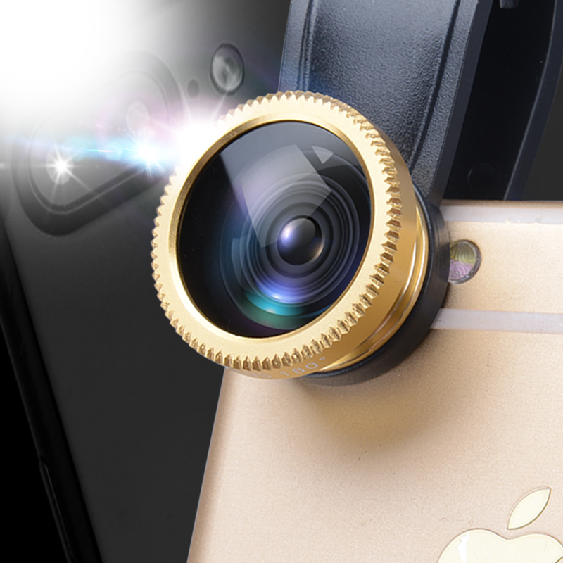 Original mobile phone lenses 3 in 1 fisheye Lens wide angle macro camera lens for Huawei Mate9 pro Honor 8 V8 G9 Plus note8 nova