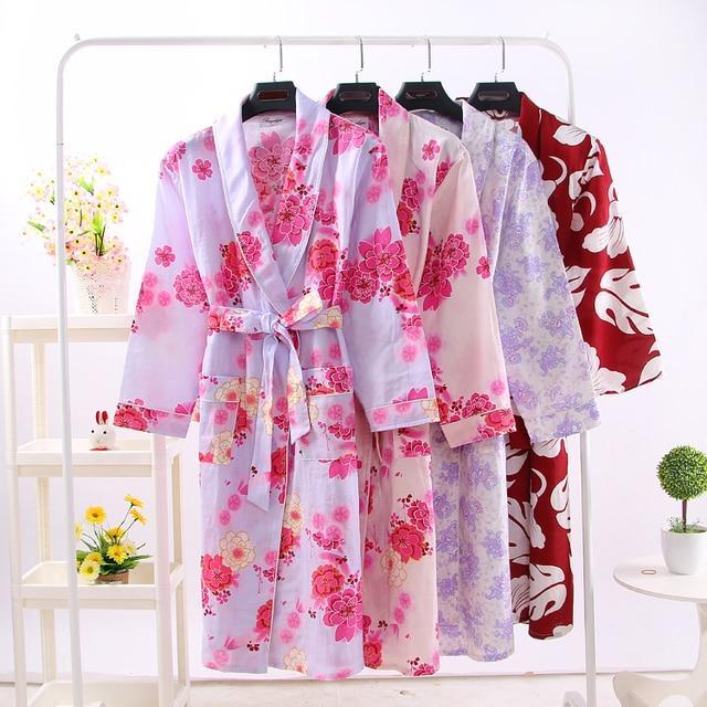 2016 зима кимоно халат женский павлин печати дизайн три четверти рукав одежды пижамы халаты горячая