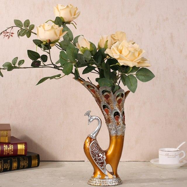 online-shop vasen mode kreative pfau vase dekoration, wohnzimmer ... - Deko Wohnzimmer Vasen