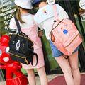 Hot Diseñador Japonés Bordado Oso Mochila Alta Calidad Adolescente Grande Portátil Bolsa de La Escuela Bolsa Mochila de Viaje Ocasional