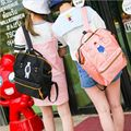 Hot Japanese Designer Embroidery Bear Backpack High Quality Teenager Large Portable School Bag Casual Travel Bag Mochila
