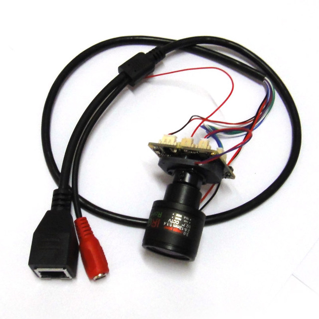 HD 2MP Sony IMX307 Black light illumination Starlight CCTV IP Camera Module IPC PCB board, 2.8-12mm lens