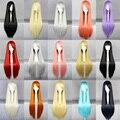 MCOSER 15 цветов многоцветный 80 см длинные прямые Косплей Костюм женская Лолита Партия Полный Синтетический Парик Волос
