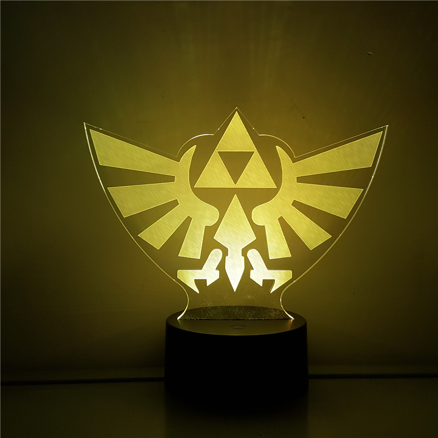 Link Zelda Legend of Zelda Figure BREATH OF THE WILD LINK Color Change Visual Illusion LED 3D Light Nightlight Action Figure