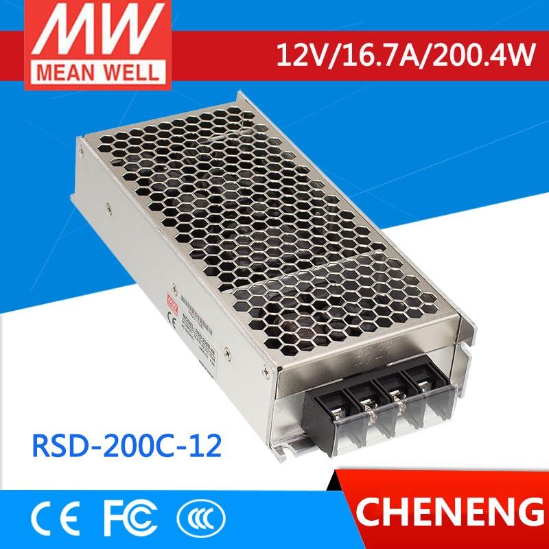 MEAN WELL original RSD-200C-12 12V 8.4A meanwell RSD-200 12V 201.6W Railway Single Output DC-DC Converter
