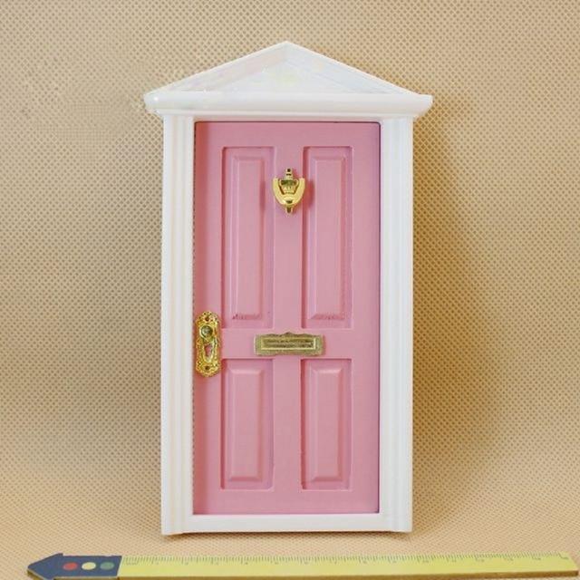 1:12 Dollhouse Miniatura Casa De Madera Multicolor Exterior Puerta ...