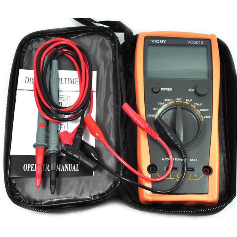 ФОТО Digital multimeter VC6013 M012 200pf to 20mF discharge digital capacitor / capacitance meter tester tool
