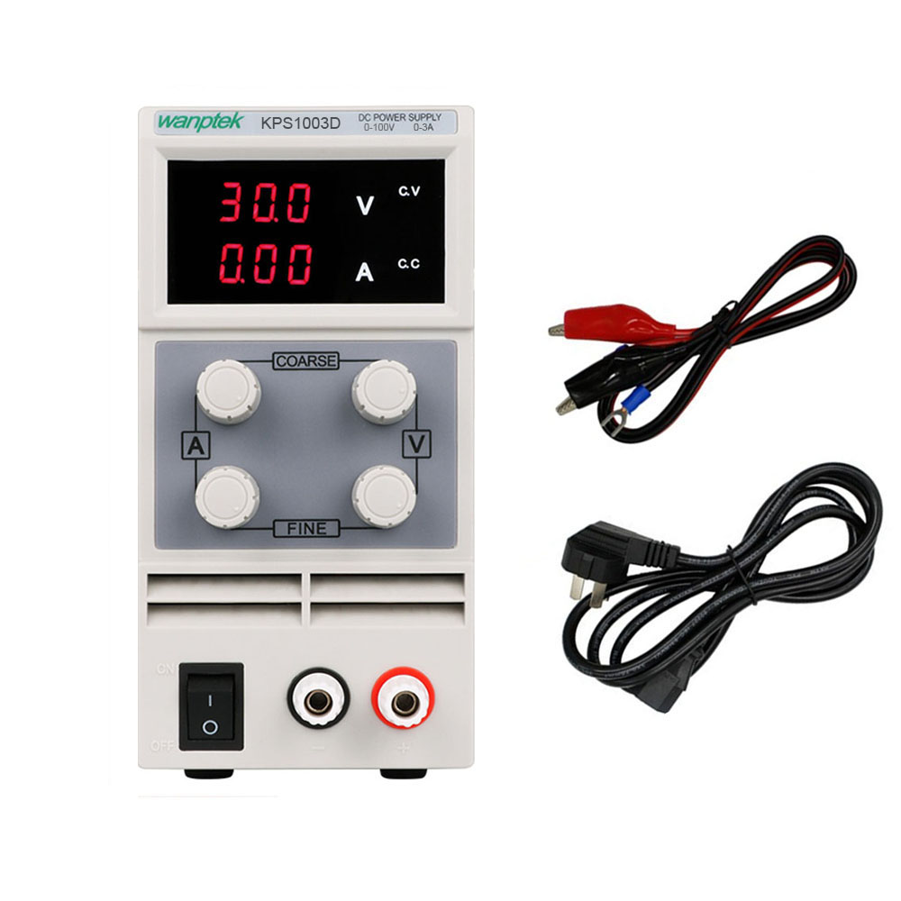 WANPTEK KPS1003D Adjustable Mini Manostat DC Power Supply  0-100V 0-3A High Precision Switch laboratory power supply