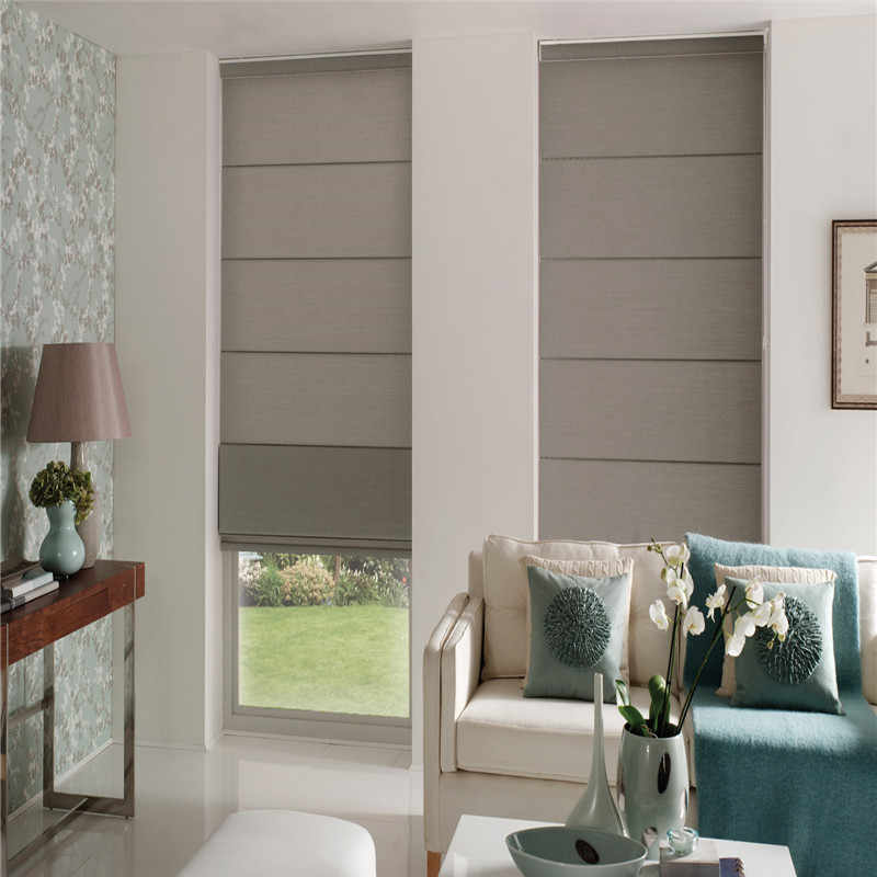 Window roman curtains roller roman blinds cortina sunscreen roman curtains manual or electric