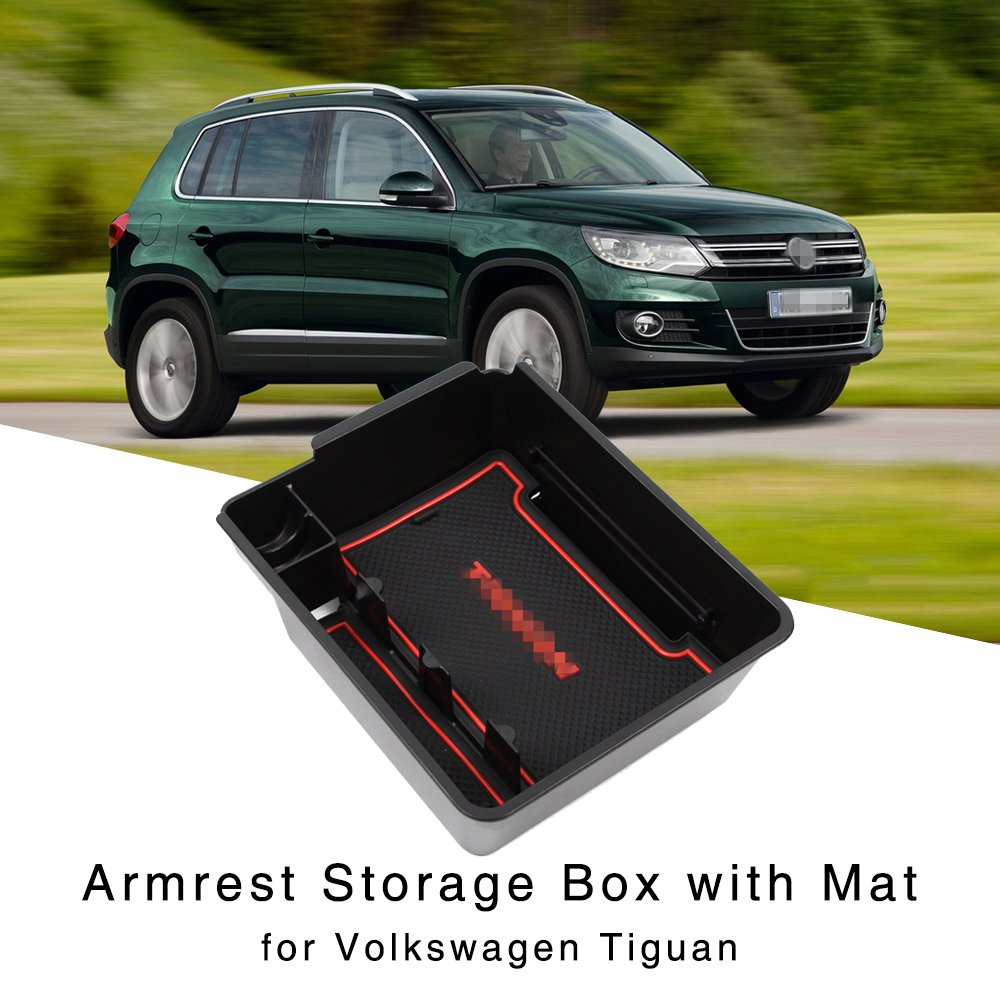 Arm Rest Storage Box Centre Console Holder Coin Tray Volkswagen Tiguan