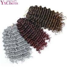 Вязанные косички глубокая волна 3 пряди Джерри Кудрявые синтетические волосы для наращивания Омбре глубокие Freetress косички плетение волос 3 шт./лот