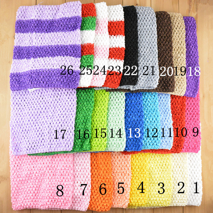 30 Colors Fashion Crochet Tube Tops Baby Chest Wrap Girl Clothing Kids Toddler Infant Newborn Wholesale Wide Crochet Headbands