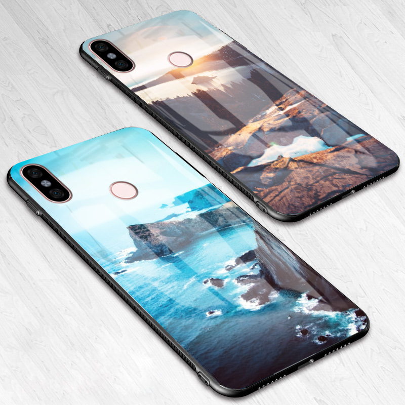 50% off fashion best website Tempered Glass Case For Xiaomi Redmi Note 5 Pro Case 5 Plus Silicone HD  Coque Cover Case For Xiaomi Redmi Note 4X 5 Plus
