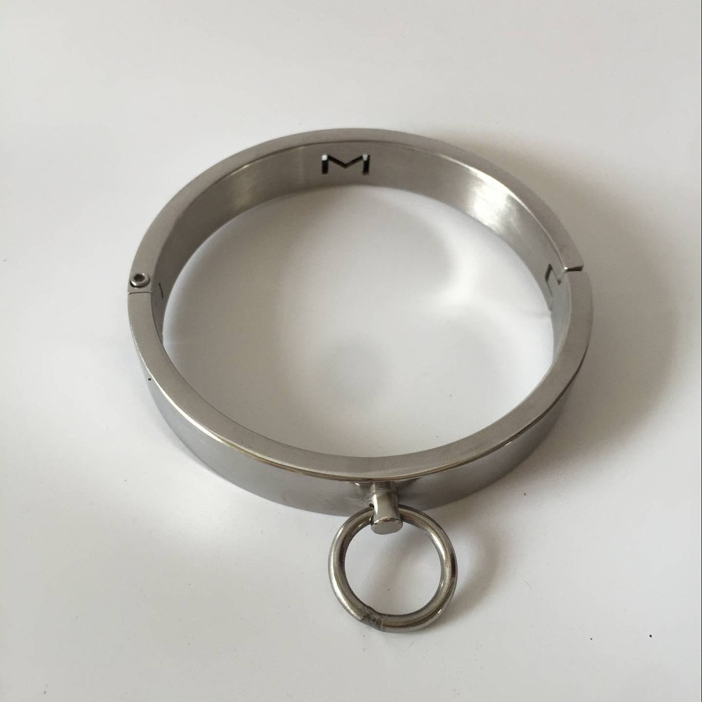 Buy stainless steel bdsm collar with lock
