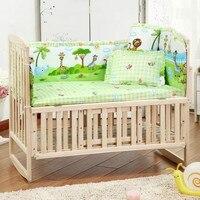 5Pcs Baby Crib Bedding Set Kids Bedding Set Newborn Baby Bed Set Crib Bumper Baby Cot