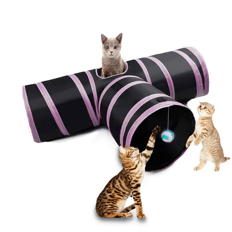 Funny Pet Combination Cat Tunnel  Game Channel Collapsible  Kitten Puppy Ferrets Rabbit Toys  Play Dog Tunnel Tubes Play Toy